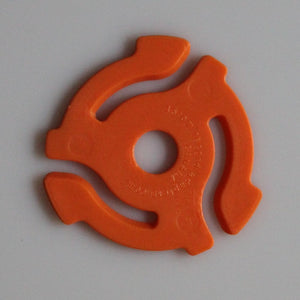 Orange 45rpm Record Insert Adapters