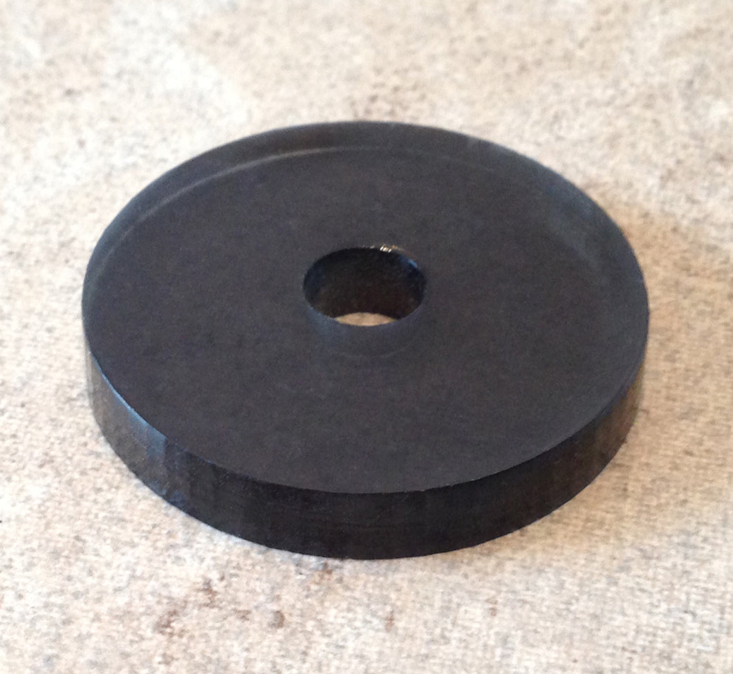 Grey Acrylic 45rpm Turntable Adapter
