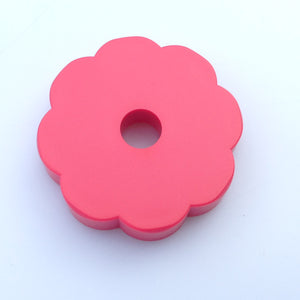 "Red ""Flower-Power"" 45rpm Turntable Adapter"