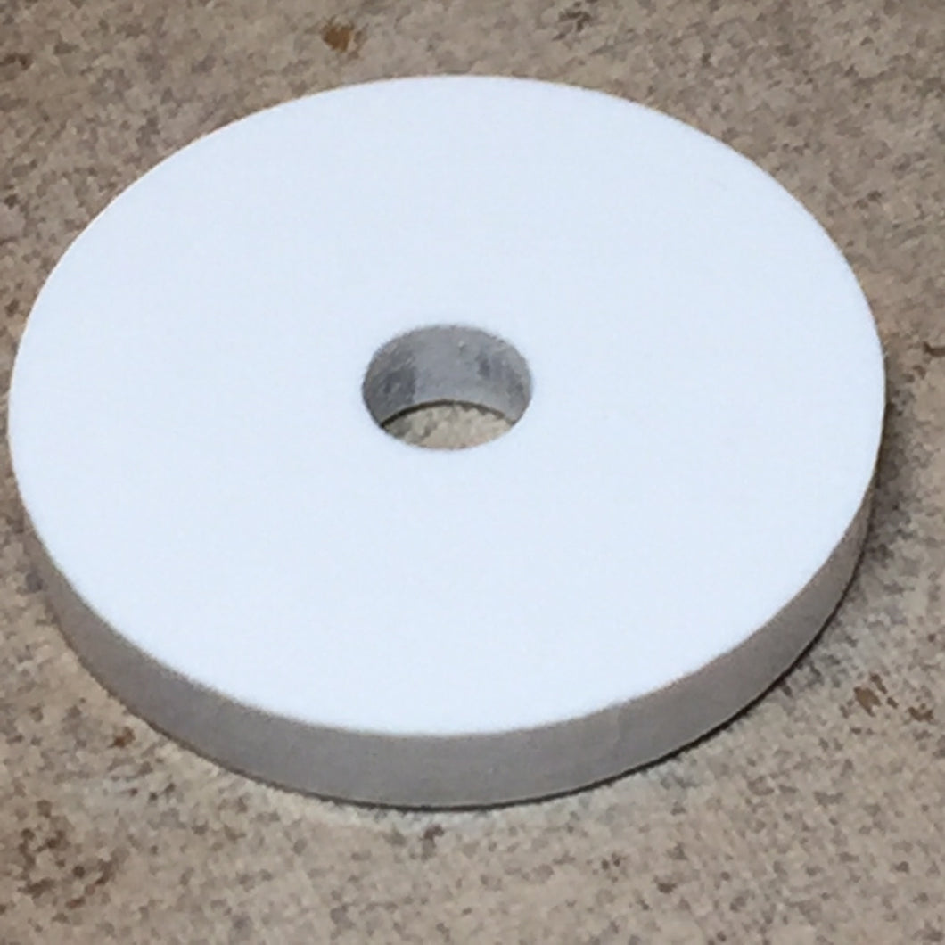 White Acrylic 45rpm Turntable Adapter