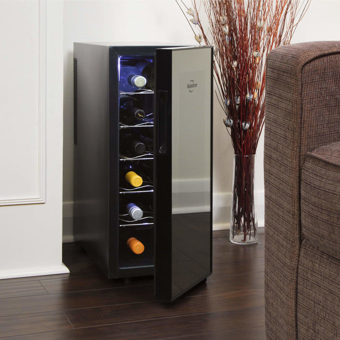 Koolatron 12 Bottle Thermoelectric Wine Cooler with Temperature Controls - CoolCatCoolers