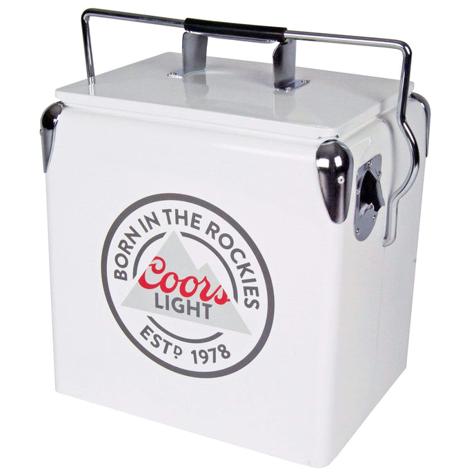 Koolatron Coors Light 14 Quarts (13 Liters) 18 Can Ice Chest with Bottle Opener - Gray - CoolCatCoolers
