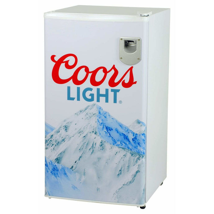 Koolatron Coors Light 3.2 Cubic Foot (90L) Compact Fridge with Bottle Opener - White - CoolCatCoolers