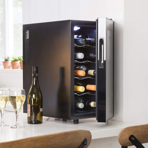 Koolatron 10 Bottle Thermoelectric Wine Cooler with Digital Temperature Controls - CoolCatCoolers