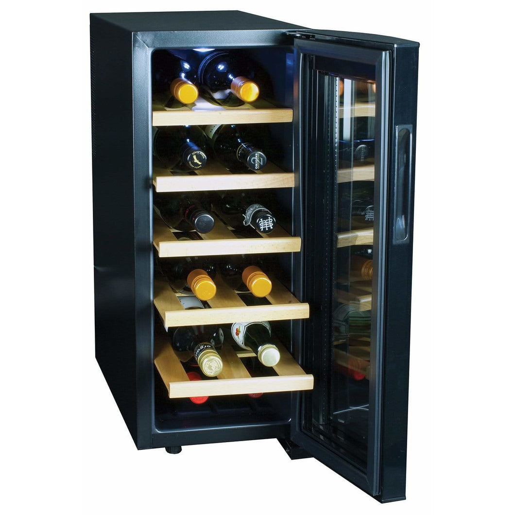 Koolatron 12 Bottle Deluxe Thermoelectric Wine Cooler with Digital Temperature Controls - CoolCatCoolers