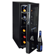 Load image into Gallery viewer, Koolatron 12 Bottle Dual Zone Thermoelectric Wine Cooler with Digital Temperature Controls - CoolCatCoolers