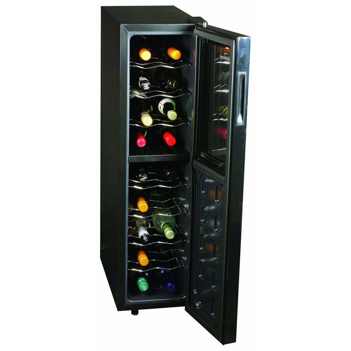 Koolatron 18 Bottle Dual Zone Thermoelectric Wine Cooler with Digital Temperature - CoolCatCoolers