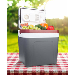 Koolatron 26 Quarts (24 Liters) 12V Portable Electric Cooler - Gray - CoolCatCoolers
