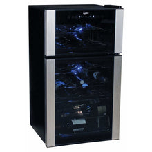 Load image into Gallery viewer, Koolatron 29 Bottle Dual Zone Electric Wine Cooler with Digital Temperature Controls - CoolCatCoolers