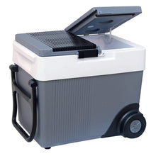 Load image into Gallery viewer, Koolatron 33 Quarts (31 Liters) 12V Kargo Electric Cooler/Warmer with Built-in Handle and Wheels - Gray - CoolCatCoolers
