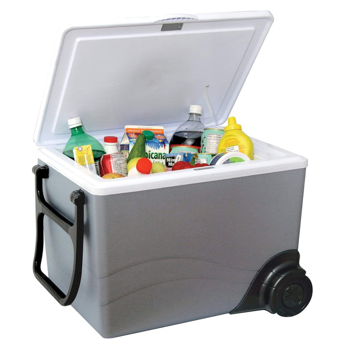 Koolatron 36 Quarts (34 Liters) 12V Kargo Electric Cooler/Warmer with Built-in Handle and Wheels - Gray - CoolCatCoolers