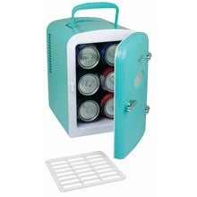 Load image into Gallery viewer, Koolatron 4.2 Quarts (4 Liters) 6 Can AC/DC Retro Electric Mini Cooler - Green - CoolCatCoolers