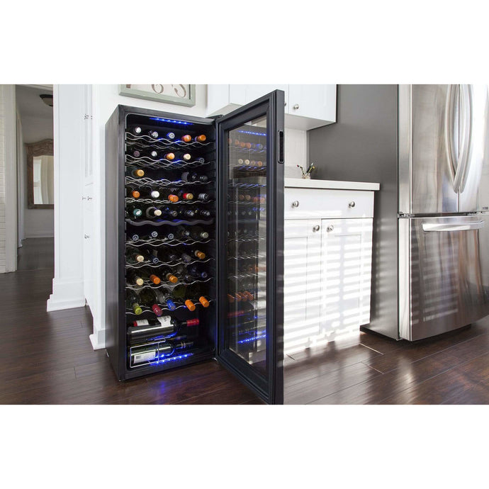Koolatron 50 Bottle Electric Wine Cooler with Dual Adjustable Cooling Zones - CoolCatCoolers