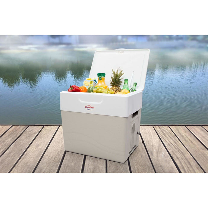 Koolatron 52 Quarts (49 Liters) 12V Krusader Electric Cooler and Warmer - Gray - CoolCatCoolers