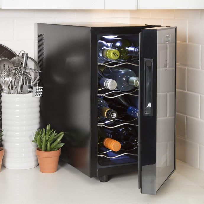 Koolatron 8 Bottle Thermoelectric Wine Cooler with Digital Temperature Controls - CoolCatCoolers