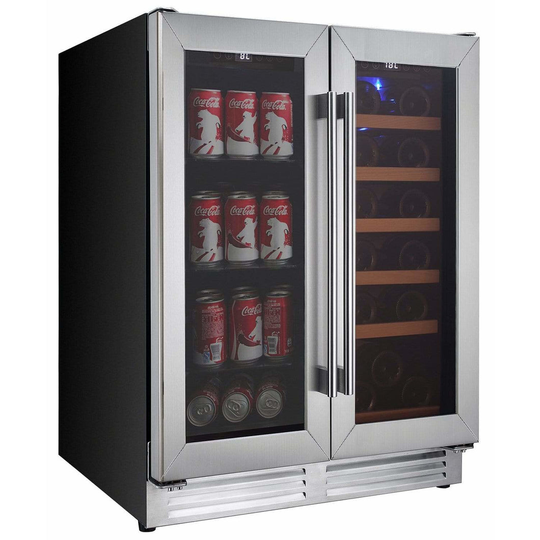 Koolatron Dual Zone Beverage and Wine Cooler with Digital Temperature Controls - CoolCatCoolers
