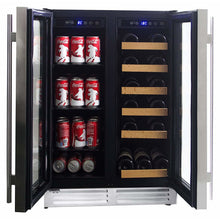 Load image into Gallery viewer, Koolatron Dual Zone Beverage and Wine Cooler with Digital Temperature Controls - CoolCatCoolers