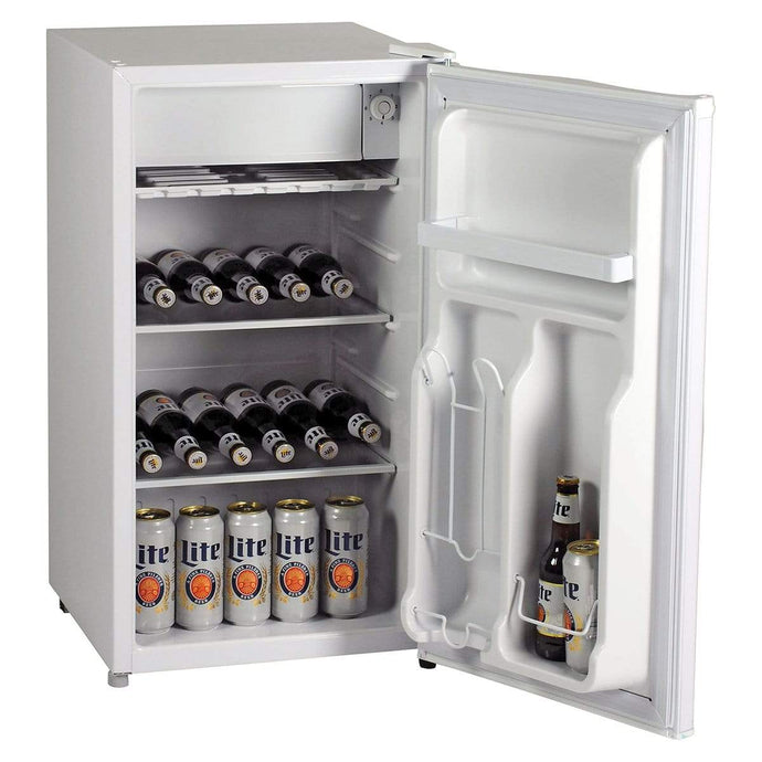 Koolatron Miller Lite 3.2 Cubic Foot (90L) Compact Fridge with Bottle Opener - White - CoolCatCoolers