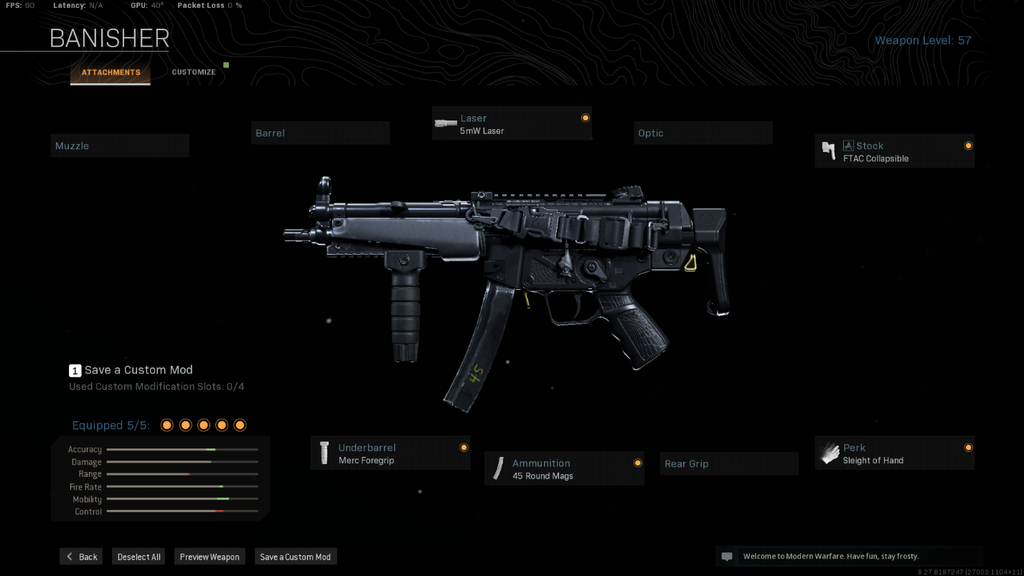 Mp5 loadout for warzone (night)