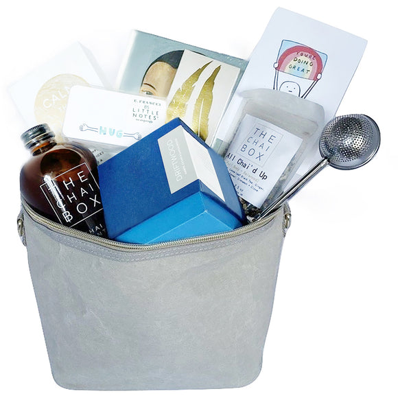Our all about wellness bags are the perfect gift for anyone you know who is focused on well being. It comes housed in a reusable lunch box and contains al of the items that one would need to be well!.