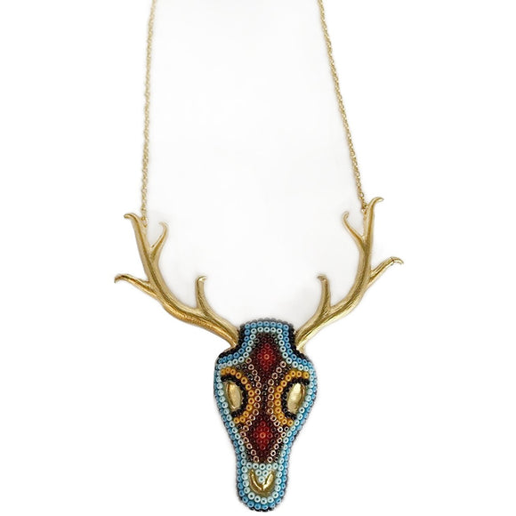 Antler beaded Necklace