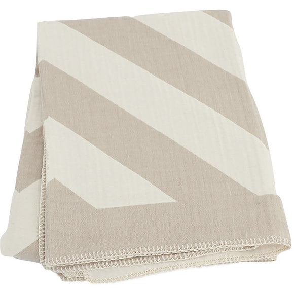 Striped Throw Taupe