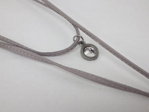 Collier long choker cuir - Créart