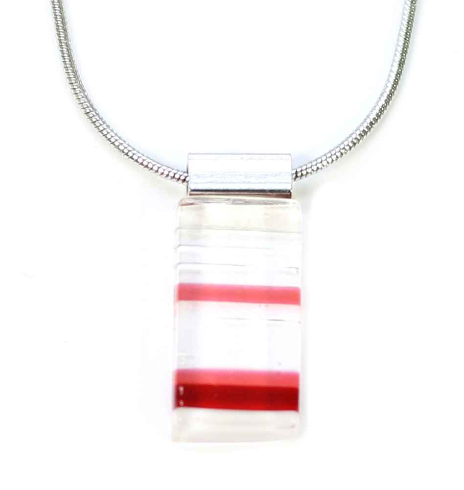 Collier pendentif Daly thin rouge/rose - Créart