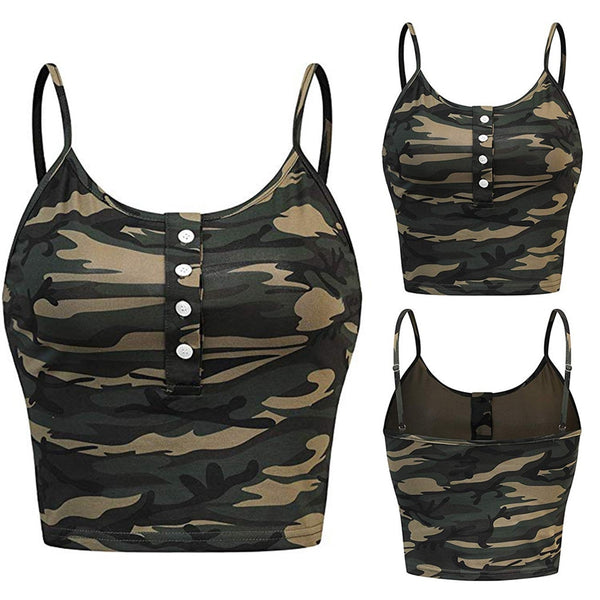 New Crop Top Women Camouflage Sexy Short