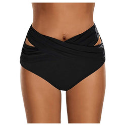 High Waisted Ruched Bikini Bottoms Swimsuit