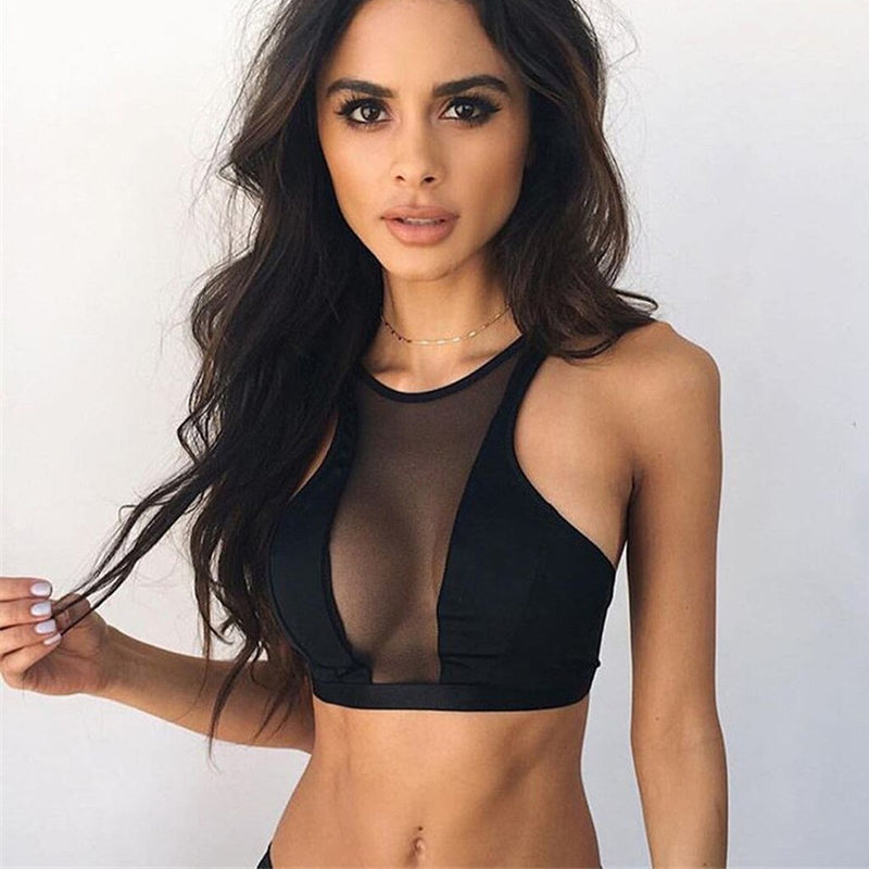 Summer Sexy Tops Women Transparent Sexy Chest