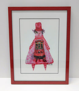 Framed Juju Doll Print