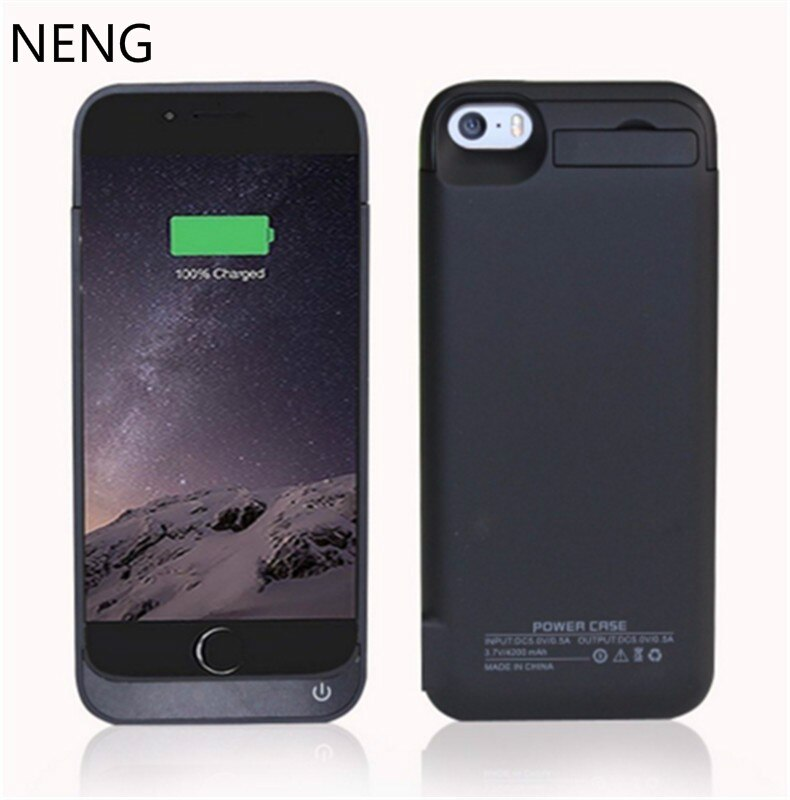 NENG 4200mAh Portable Backup External Battery Charger Case For iphone5 SE  Powerbank Charging Case For iPhone 5C 5S Battery Case