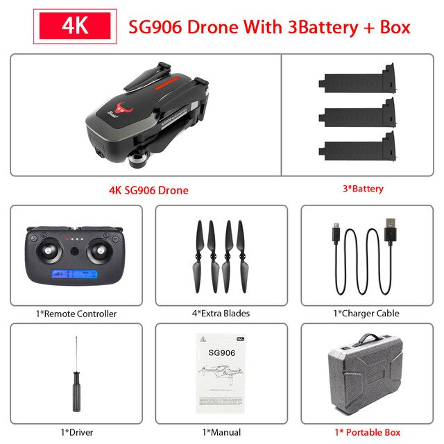 SG906 Pro GPS Drone with Wifi FPV 4K HD Camera