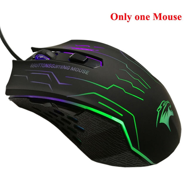 Silent Click USB Wired Gaming Mouse