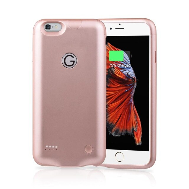 for iPhone 6 6s Power Bank Charging Cases 2500mAh Battery Charger Case Charger Ultra Slim External Back Pack
