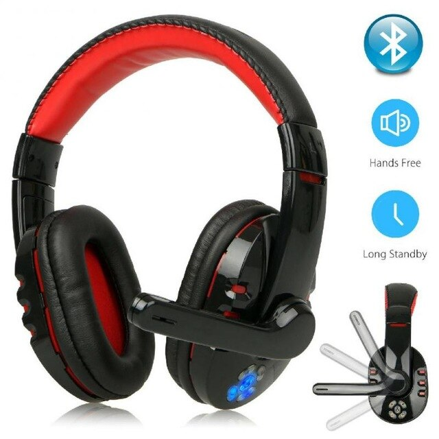 High-bass Wireless Bluetooth Headset With Microphone Gaming Voice Brand New High Quality For Ipad Computer Smartphone