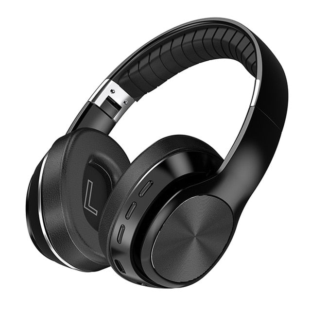 HiFi Wireless Headphones Bluetooth Foldable Headset Support TF Card/FM Radio/Bluetooth AUX Stereo Headset With Mic Deep Bass
