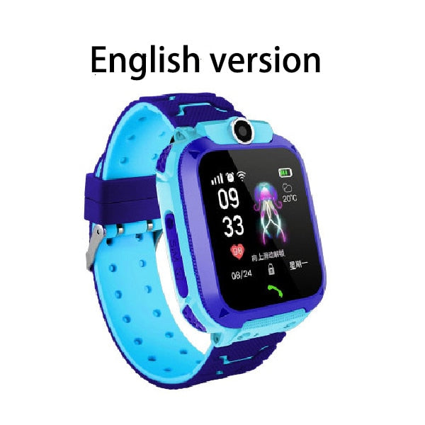 Q12 Children's Smart Watch SOS Phone Watch Smartwatch For Kids With Sim Card Photo Waterproof IP67