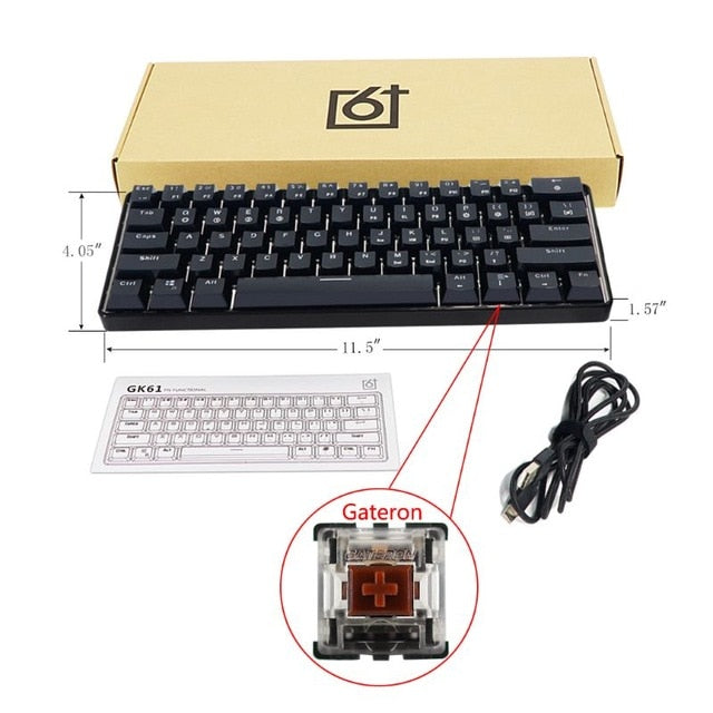 GK61 SK61 61 Key Mechanical Keyboard