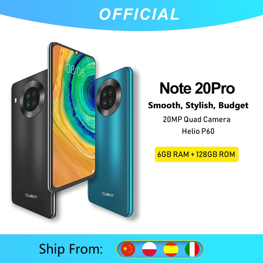 Cubot Note 20 Pro Quad Camera Smartphone