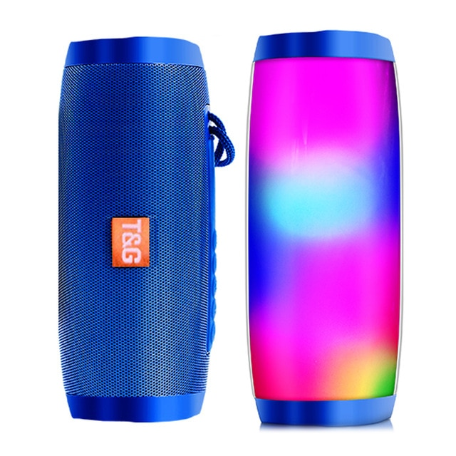 Wireless Bluetooth Speaker Portable Speaker Bluetooth Powerful High BoomBox Outdoor Bass HIFI TF FM Radio with LED Light
