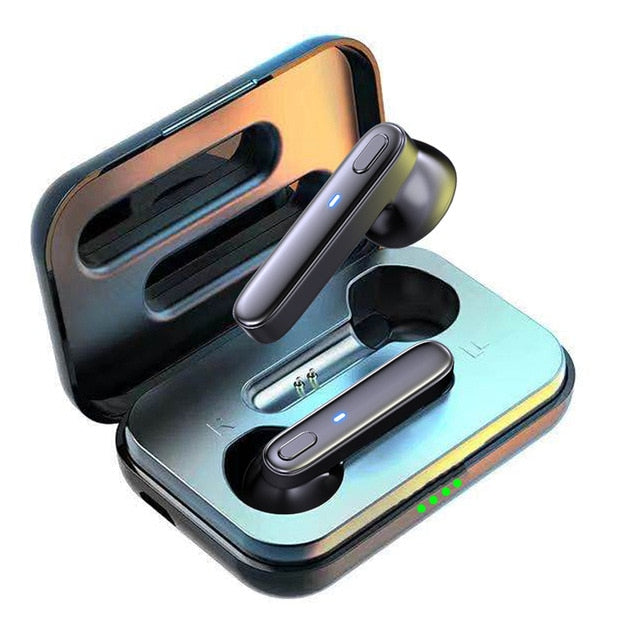 R20 TWS Earphone Bluetooth Wireless Headset Waterproof Deep Bass Earbuds True Wireless Stereo Headphone With Mic Sport Earphone