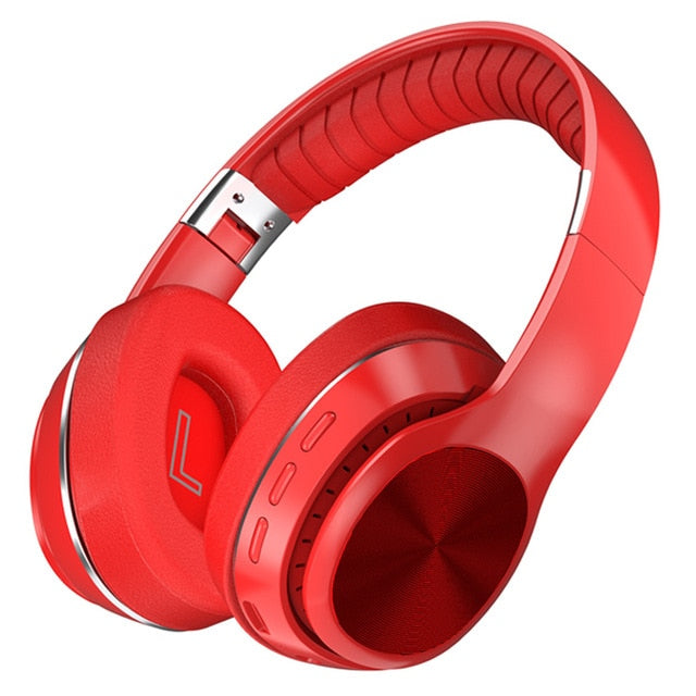 Tourya Over ear Wireless Headphones Bluetooth 5.0 Headphone Foldable Headset Support TF Stereo with Mic For phone xiaomi pc