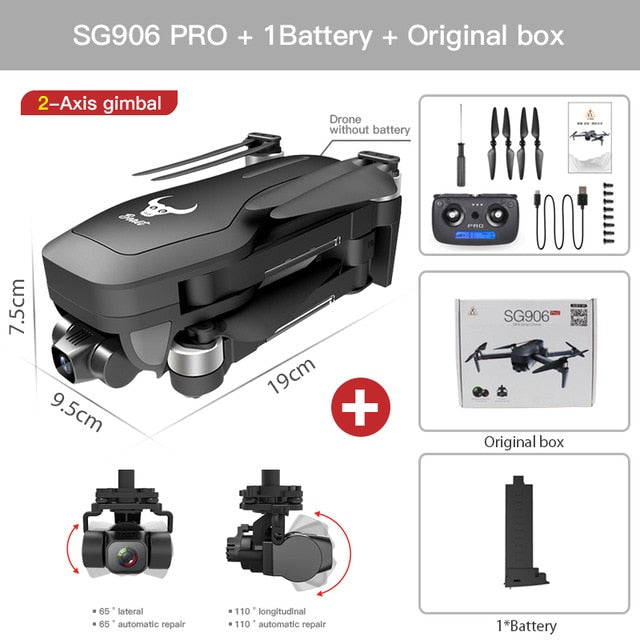 ZLRC SG906 Pro 2 Pro2 / SG906 GPS Drone with Wifi 4K Camera Three-Axis Anti-Shake Gimbal Brushless Professional Quadcopter Dron