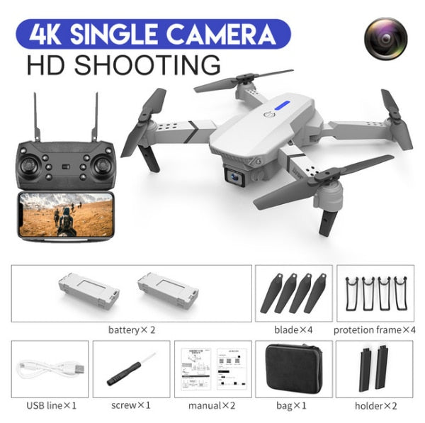 LSRC 2020 new Quadcopter drone E525 HD 4K 1080P camera and WiFi FPV height maintaining RC foldable Quadcopter Dron gift toy