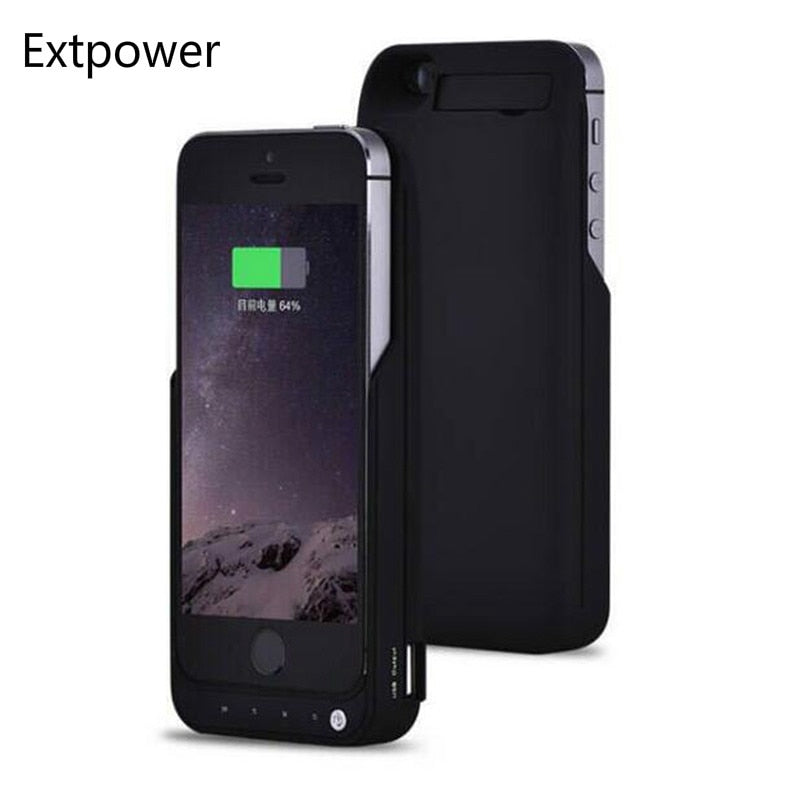 Extpower 4200mAh Battery Charger Case For Iphone 5 5s Se Backup External Phone Charging Case For Iphone 5 5s SE Power Bank Cover