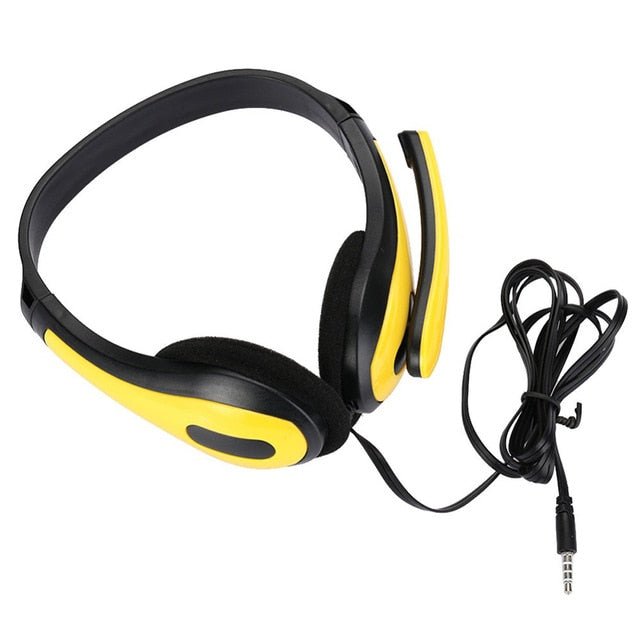 Headphone Wired With Micphone Adjustable Gaming Headset 3.5mm Jack Portable Audio Earphones For PS4/XBOX/PC 160cm