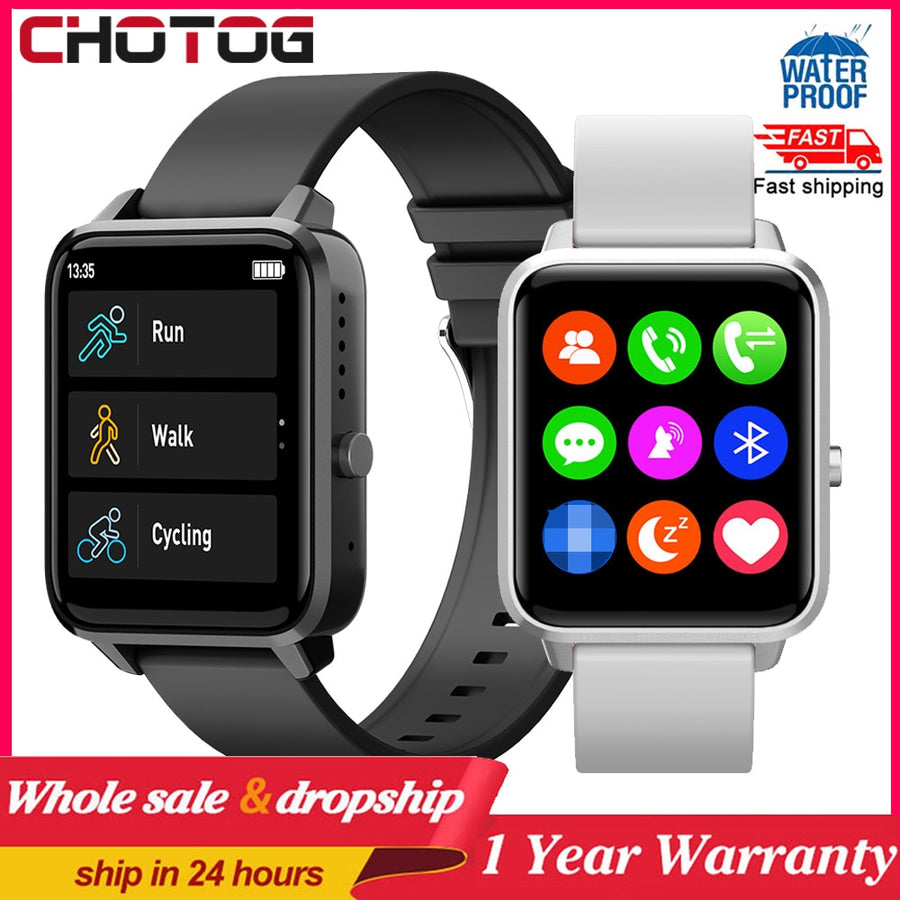 Bluetooth Call Smart Watch Men 1.65 Inch Touch Screen Waterproof Smartwatch Women Blood Pressure Monitor Sleep Tracker Clock