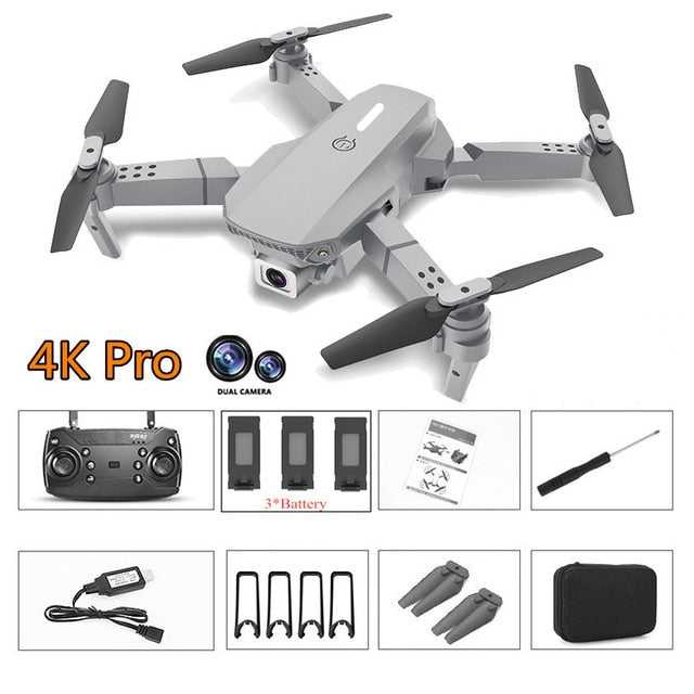 2020 New E88 Pro Rc Drone with wide-angle HD 4K 1080P Wifi Fpv Dual Camera Height Hold Foldable Quadcopter Mini Drone Gift Toys